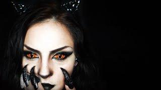 Pisica neagra- machiaj pentru Halloween