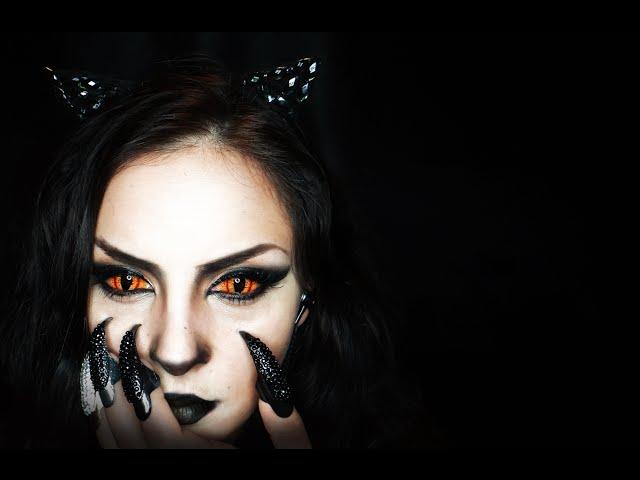 Pisica Neagra Machiaj Pentru Halloween