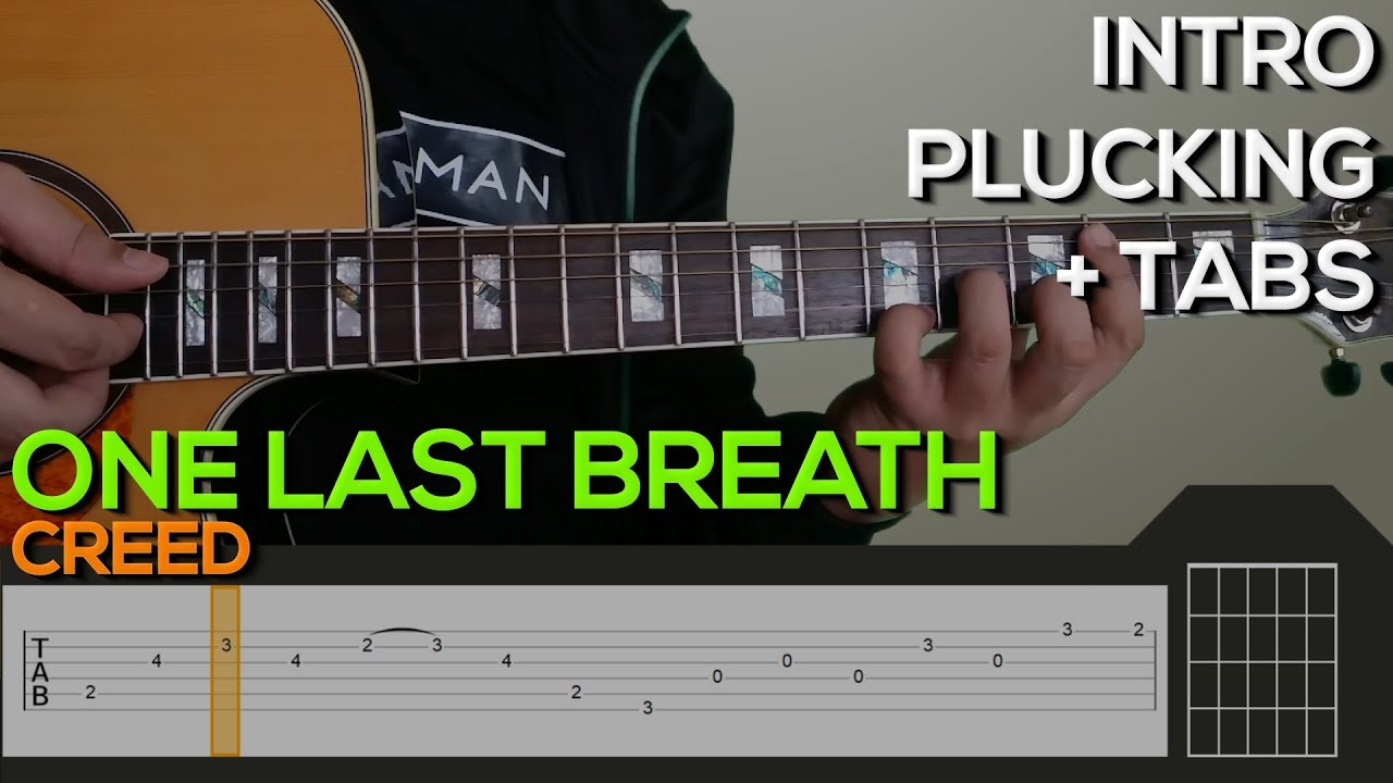 Creed One Last Breath Guitar Tutorial Intro Tabs Youtube