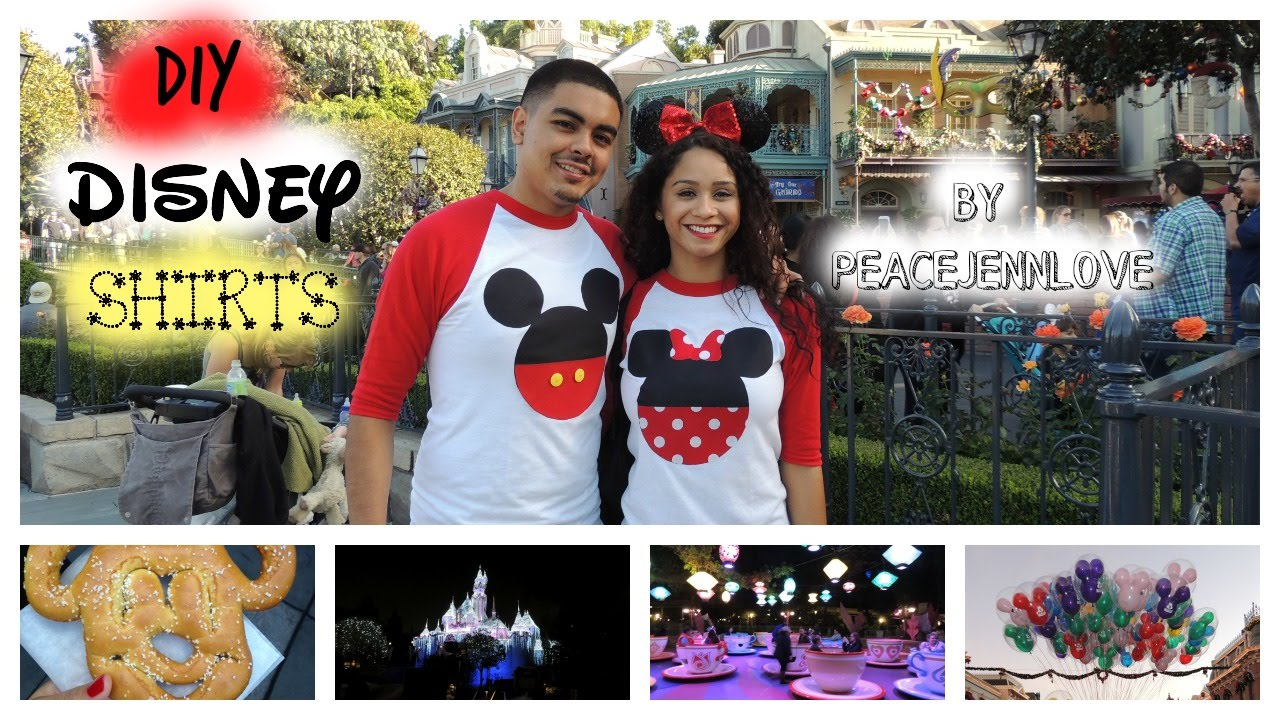 Diy Disney Couples Shirt Mickey Minnie Youtube