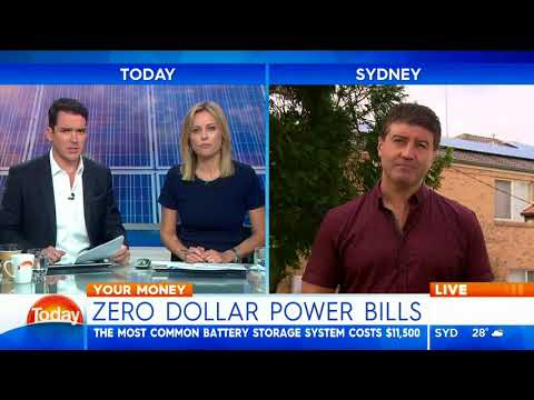 Natural Solar on Channel 9's Today Show - Zero Dollar Power Bills