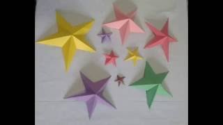 3D Star / paper star / holiday room decoration idea /  Eid & Christmas craft