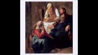Jesús en casa de  Marta y María
