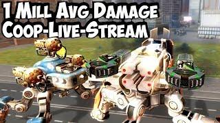 War Robots 1 Mill Avg Damage Coop Montage with Stew Pendous & Manni