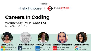 Careers in Coding by thelighthouse x Fullstack Academy