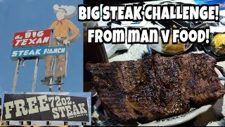 Big 72 Ounce Steak Challenge Rematch at the Big Texan *from Man v Food* | Freak Eating