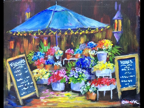 How to Paint a Flower Market with Ginger Cook