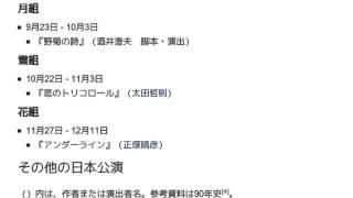 「1983年の宝塚歌劇公演一覧」とは ウィキ動画