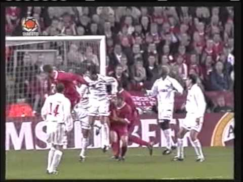 2002 October 2 Liverpool England 5 Spartak Moscow Russia 0 Champions League
