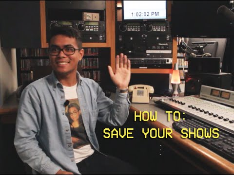 How to: Save Your Shows