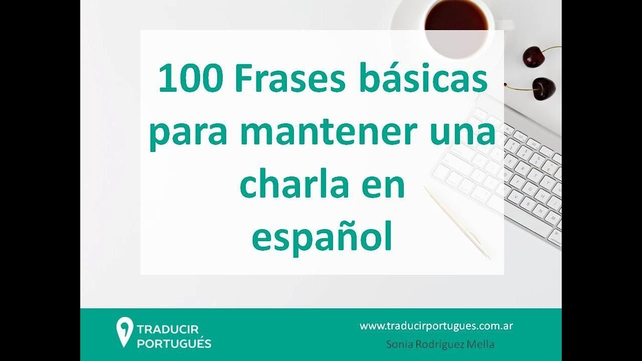 100 Frases Básicas Traducidas Para Conversar En Portugués O