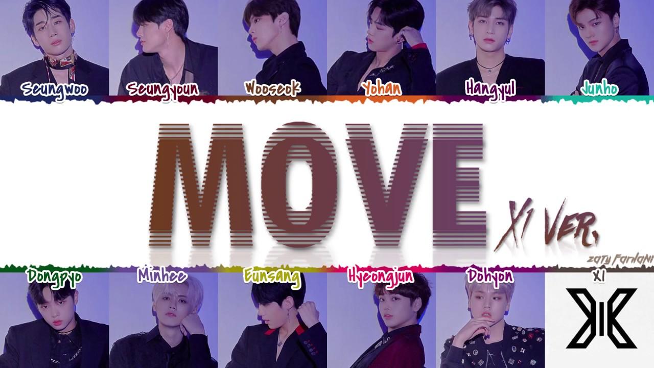 X1 (엑스원) - 'MOVE' (Prod. by ZICO) (X1 Ver.) Lyrics [Color Coded_Han_Rom_Eng]
