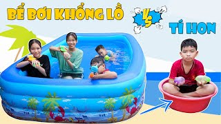 Bể Bơi Khổng Lồ VS Bể Bơi Tí Hon ♥ Min Min TV Minh Khoa
