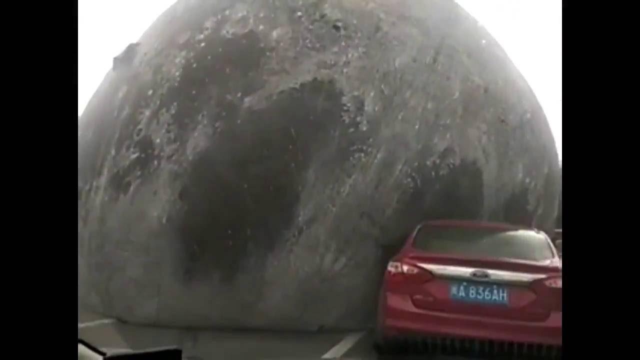 hilarious giant moon balloon blown away in fuzhou youtube