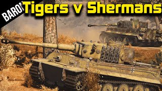 War Thunder Gameplay - 7 Tiger Tanks vs 25 Sherman Tanks (War Thunder Tanks)(War Thunder Tanks - Tigers vs Shermans in Realistic Battles War Thunder Custom Battle - 7 Tiger Tanks vs 25 Sherman Tanks ○War Thunder Playlist: ..., 2015-09-23T20:30:01.000Z)
