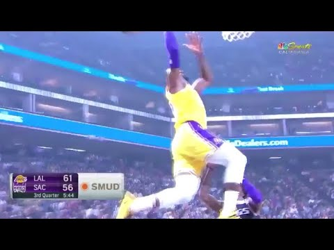 LeBron James NASTY ALLEY OOP Lonzo Ball SHOWTIME Pass! Lakers vs Kings