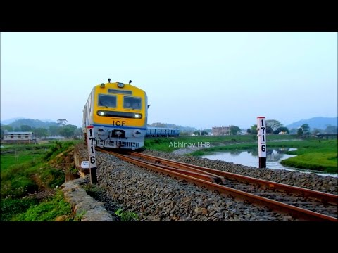 Guwahati - New Bongaigaon DEMU Train (via. Goalpara Town)   Massive Deepor Beel Curve