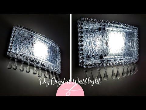 DIY Elegant Wall Light - Dollar Tree DIY - Wall Lamp - Wall Sconce - Glam Decor - Home Decor