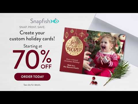 Christmas Cards 70% Off 2018 Holiday 15 Second