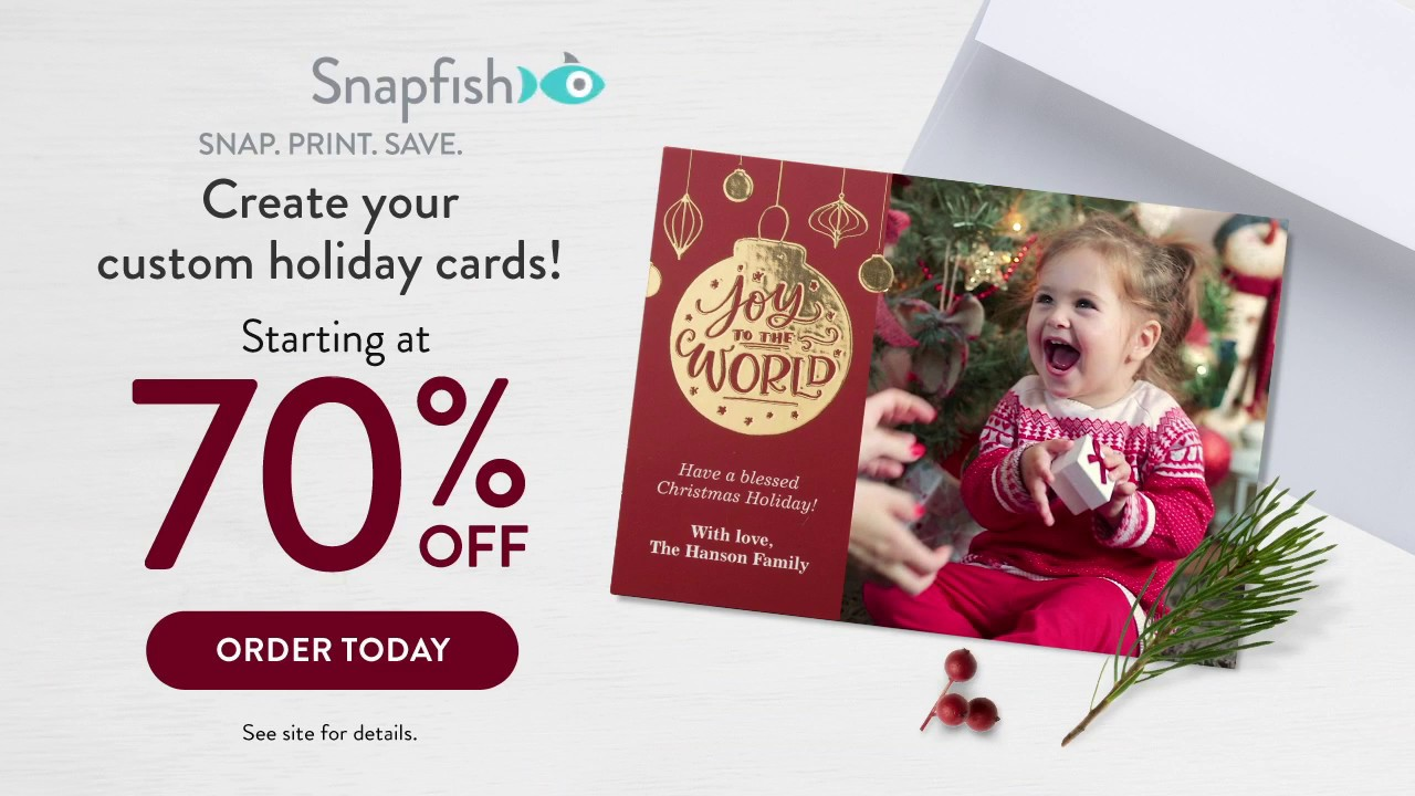 Christmas Cards 70% Off 2018 Holiday 15 Second - YouTube