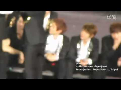 [yuanHyuk] 120205 Super Show IV in Taipei - Playing game with water - SJ bling bling