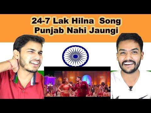 Indian reaction on 24-7 Lak Hilna song | Punjab Nahi Jaungi | Sahir Ali Bagga | Swaggy d