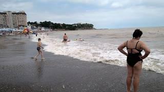 Погода 2017, супер грязный пляж в Джубга (чёрное море) - не рекомендую
