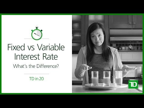 TD - Fixed Vs Variable Interest Rate