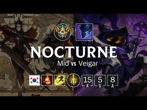 Nocturne Mid vs Veigar - KR Master Patch 824