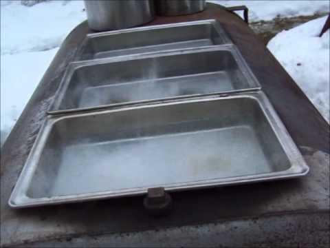 Building A Homemade Maple Syrup Evaporator 55 In Su