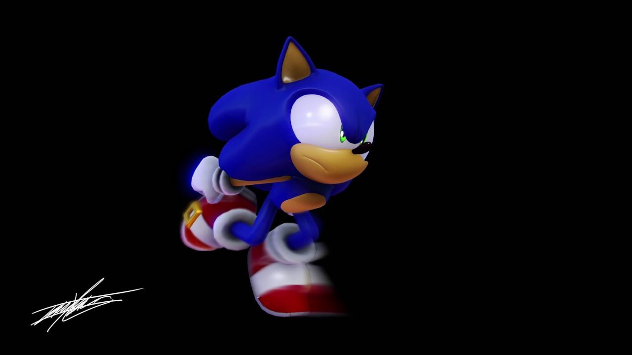 Mmd Modern Sonic Wip Run Test Youtube