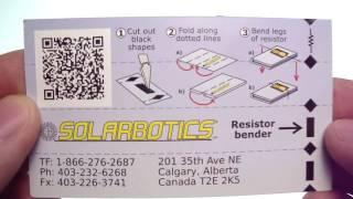 Business card resistor bender
