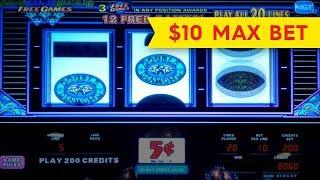 Triple Double Diamond Free Games Slot - $10 Max Bet - BIG WIN BONUS!