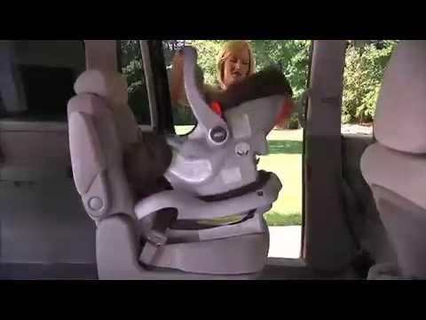 Graco Infant SafeSeat Car Seat Installation Video Using A Seatbelt