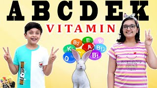 VITAMIN CHALLENGE   Healthy Eating   Vitamin A B C D E K and special H   Aayu and Pihu Show