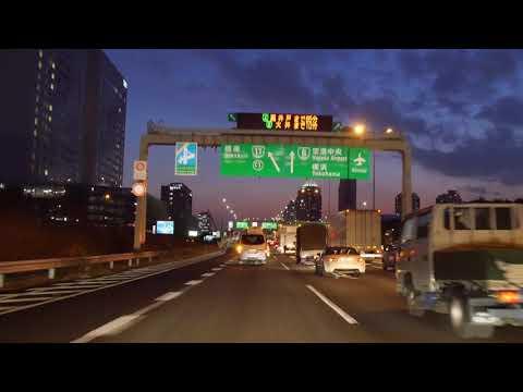 Tokyo night drive 4K 2018 首都高 箱崎PA 神田橋JCT