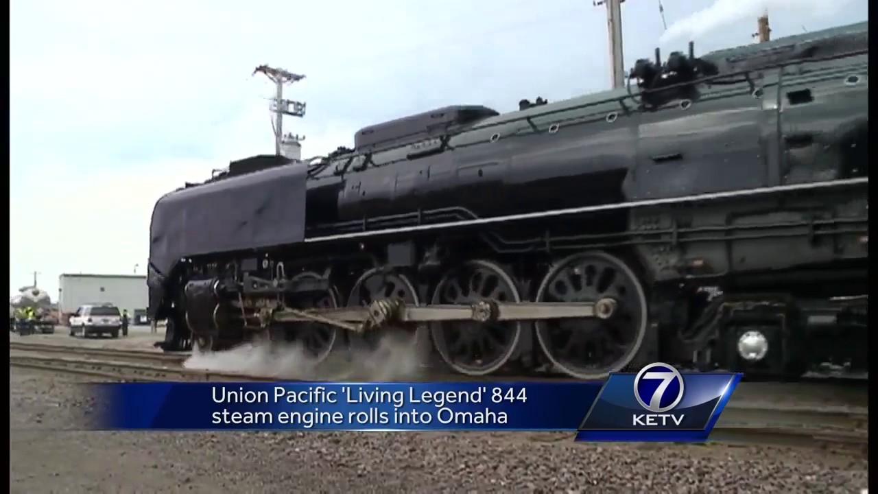 Union pacific living legend steam engine rolls into