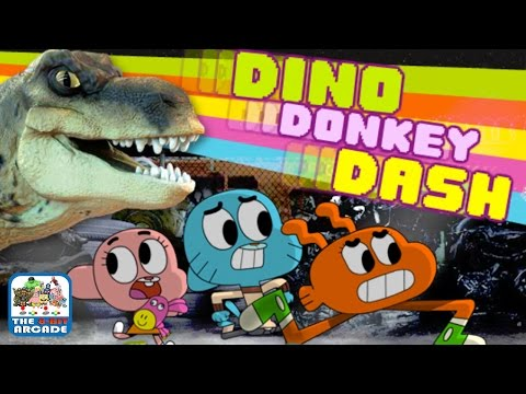 The Amazing World Of Gumball: Dino Donkey Dash - Get Daisy Back! (Cartoon Network Games)