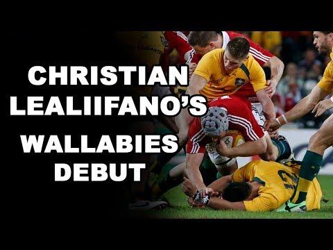 Christian Lealiifano's Wallabies Debut