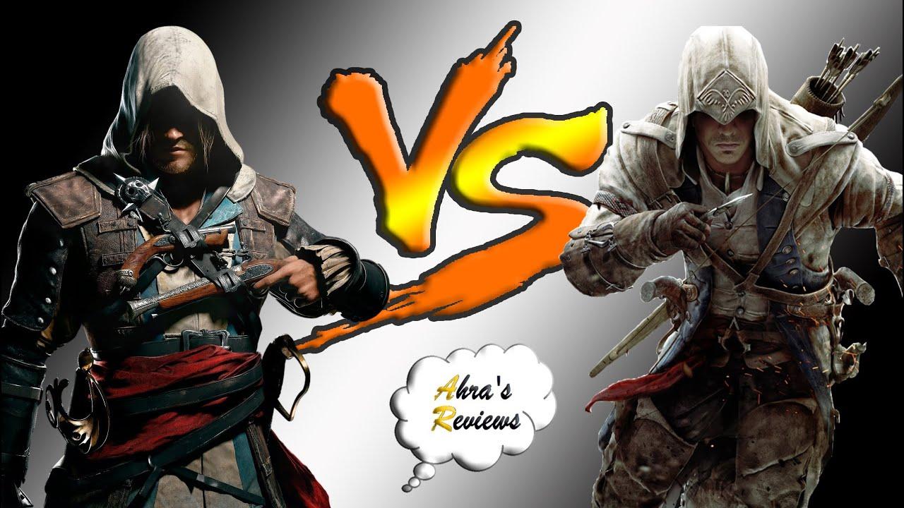 Connor Kenway Assassin S Creed 3 Vs Edward Kenway Black Flag
