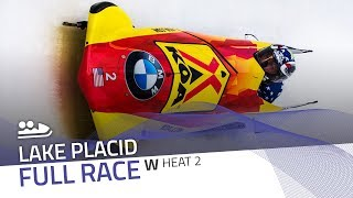 Lake Placid | BMW IBSF World Cup 2017/2018 - Women's Bobsleigh Heat 2 | IBSF Official