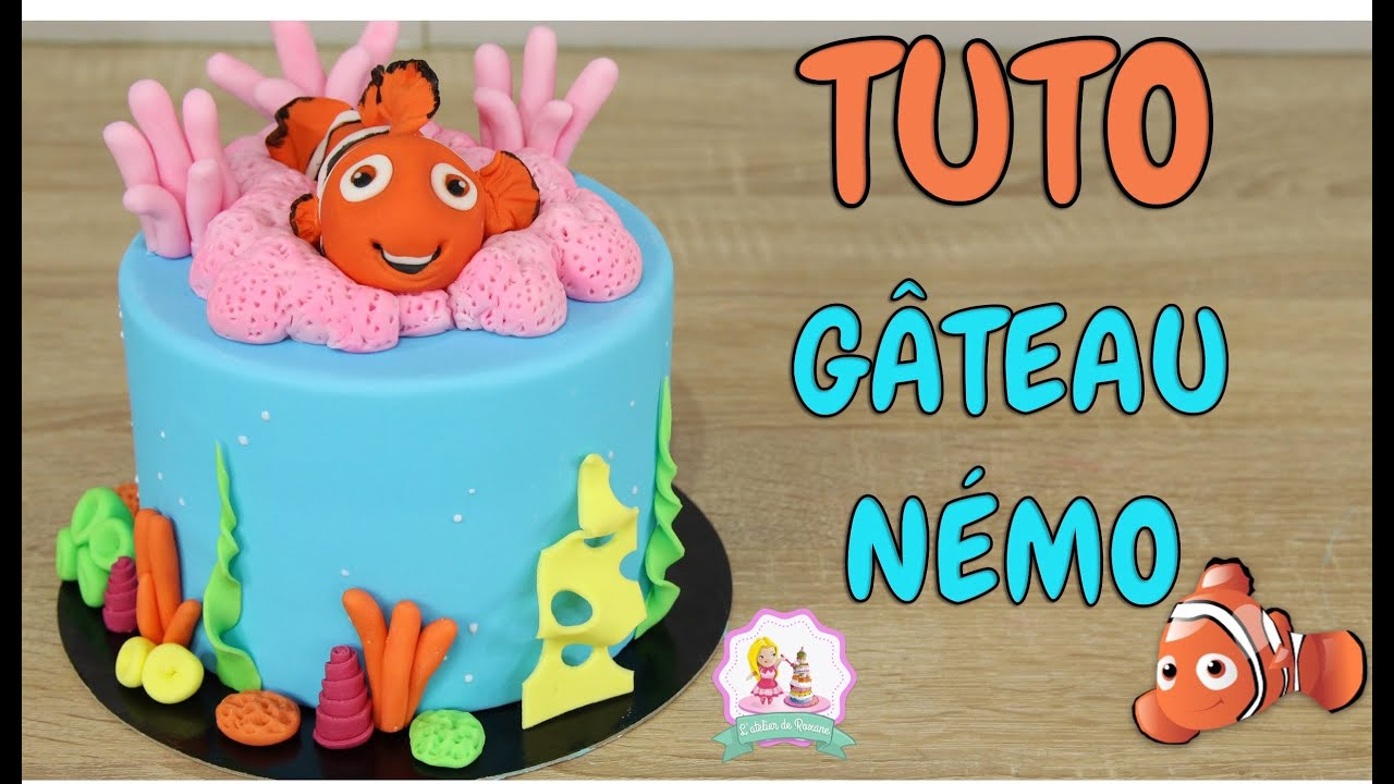 Decoration De Gateau En Pate A Sucre Gateau Cake Design NÉmo Tutoriel Decoration Pate A Sucre