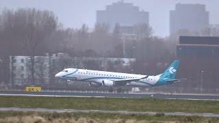 Air Dolomiti - Embraer 195 - Rare landing at AMS (I-ADJL)
