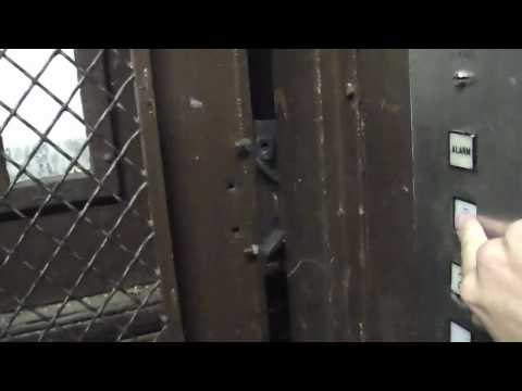 Terrible but vintage Montgomery freight elevator @ Monroeville Mall getting stuck on camera