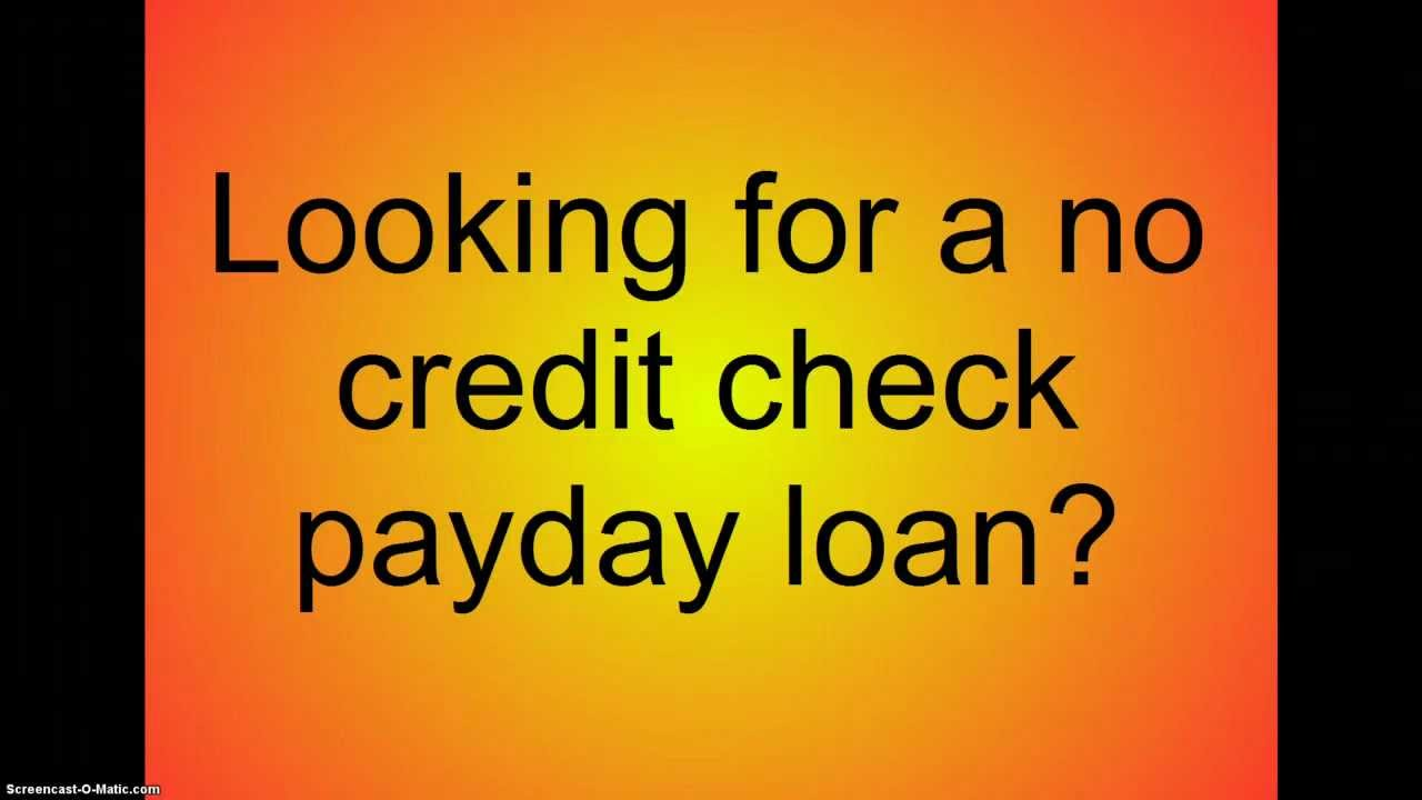 No credit check payday loans- payday loans no credit check - YouTube
