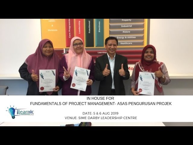 2019 Aug   In-House For  Fundamentals of Project Management-Asas Pengurusan Projek