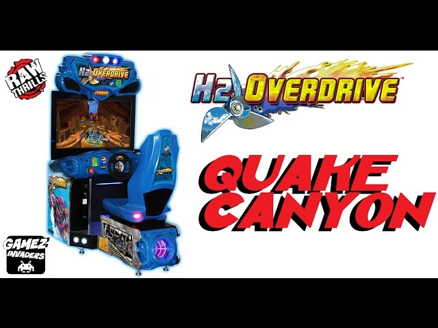 H2 OVERDRIVE! Arcade Game! Quake Canyon Track 1 (HYDRO THUNDER 2)