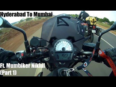 Hyderabad To Mumbai Pt.1 (Ft. Mumbiker Nikhil) | Kawasaki ER6N | Triumph Tiger
