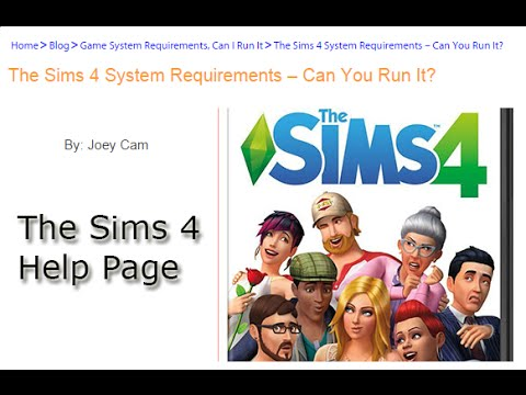 The Sims 4 System Requirements – Minimum and Recommended - YouTube