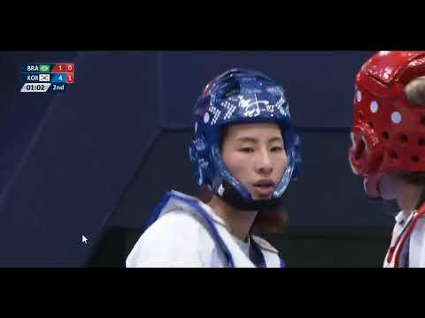 Wuxi 2018 World Taekwondo Grand Slam Minah HA(KOR) vs Iris TANG SING(BRA)
